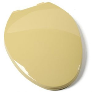 Harvest Gold Plastic Elongated Toilet Seat