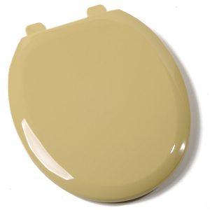 Harvest Gold Plastic Standard Round Toilet Seat