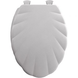 Mayfair White Elongated Shell Toilet Seat