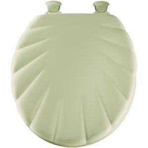 Mayfair White Round Shell Toilet Seat