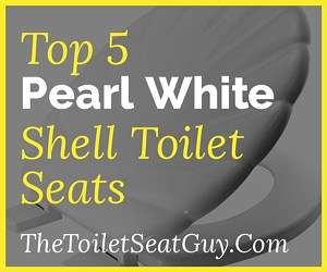 Pearl White Shell Toilet Seats