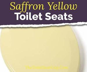 Saffron yellow toilet seat