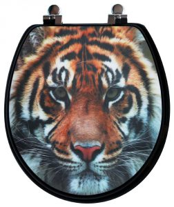 Topseat 3D Round Toilet Seat Tiger