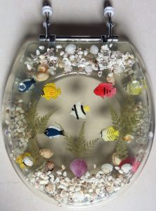 Transparent Clear Acrylic Seashell Aquarium Toilet Seat