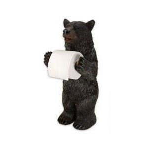 Bear Free Standing Funny Toilet Roll Holder