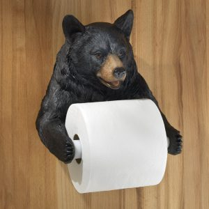 Beautiful Realistic Detailed Bear Toilet Paper Holder