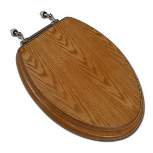 Comfort Seats Dark Oak Elongated Glossy Toilet Seat