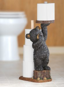 Cute Little Bear Toilet Roll Holder