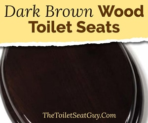 Dark brown wood toilet seat