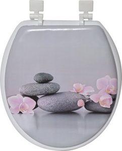 Evideco Chic & Zen Gray & Pink Round Toilet Seat