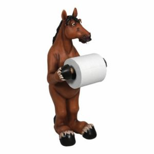 Hilarious Standing Horse Toilet Paper Holder