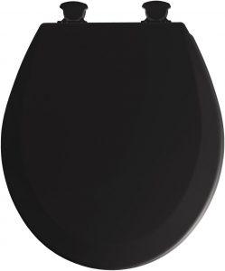 Mayfair Black Wood Standard Toilet Seat