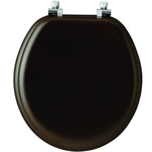 Mayfair Dark Wood Round Toilet Seat