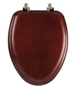 Mayfair Veneer Wood Elongated Cherry Toilet Seat