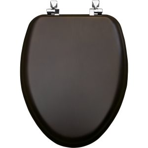 Mayfair Veneer Wood Elongated Walnut Toilet Seat