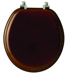Mayfair Veneer Wood Round Cherry Toilet Seat
