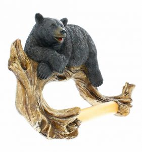 Relaxing Realistic Big Bear Toilet Paper Holder