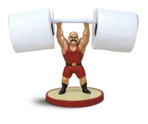 Strong Man Fun Toilet Paper Holder