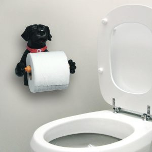 Black Labrador Dog Toilet Paper Holder