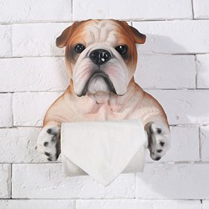 Bulldog Toilet Roll Holder
