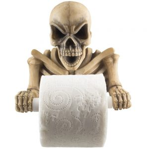 Halloween Scary Skeleton Toilet Paper Holder