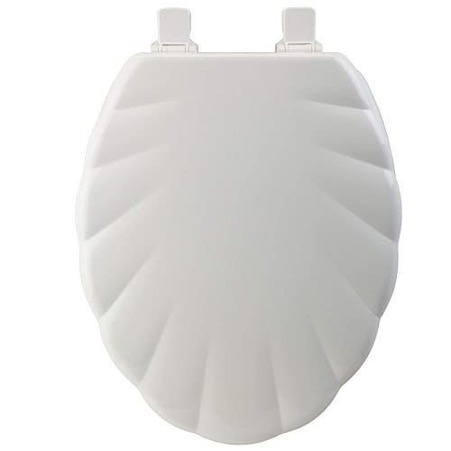 White Shell Color Toilet Seat