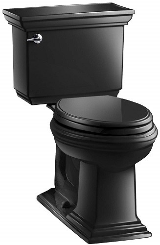 Stylish Black Toilet