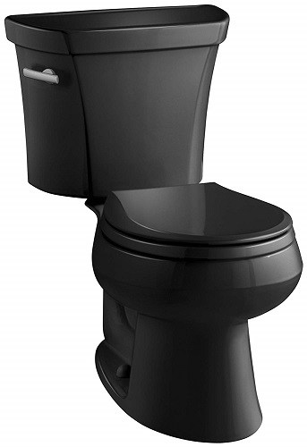 Black Toilet - Kohler Wellworth