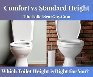 comfort vs standard height toilet