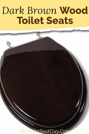 Dark brown wood toilet seats